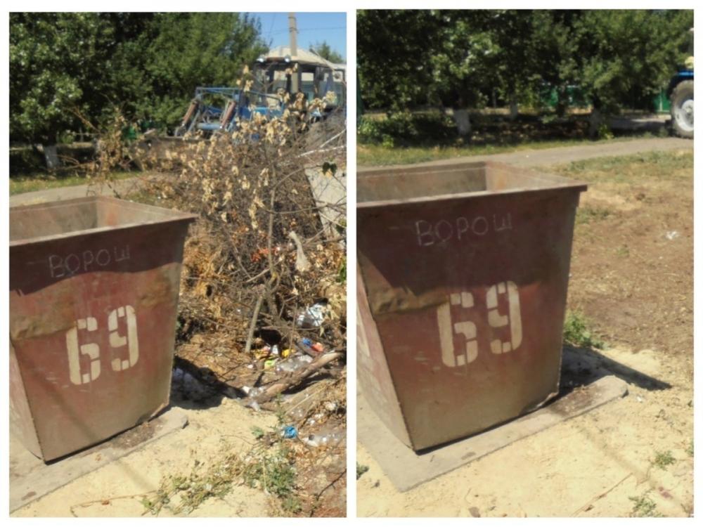 Более миллиона рублей за полгода в Морозовске ушло на вывоз сваленного возле контейнеров мусора