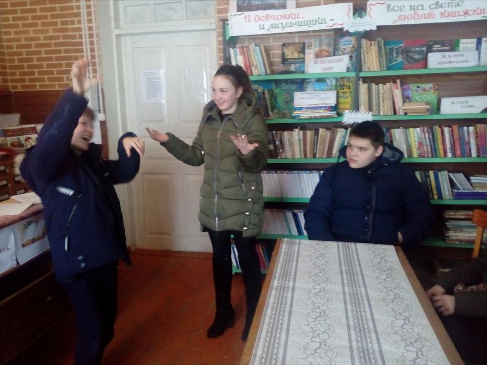 Забавные пантомимы показали школьники в хуторе Донской