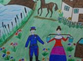 Детские рисунки на тему донской край