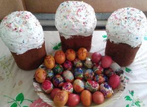 Пасхальные куличи и яйца у морозовчан получились абсолютно разными