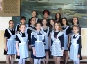 Лицеисты Морозовска присоединились к акции #ОднаНаВсех и спели знаменитую песню о Победе