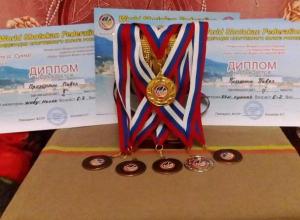 «Золото», «серебро» и «бронзу» одновременно привез юный каратист привез в Морозовск