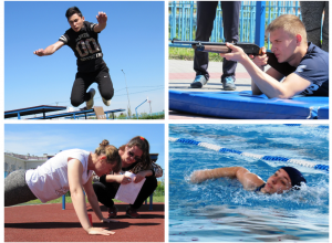 Фоторепортаж: Прыжками, стрельбой, отжиманиями и плаваньем отметили предпразничные выходные в Морозовске