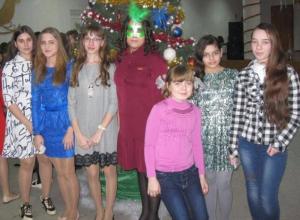 Школьники из Вишневки побывали на новогодней дискотеке в Морозовске