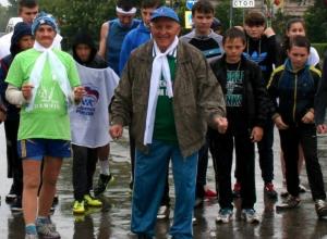 Сверхмарафон в Морозовске стартовал под дождем