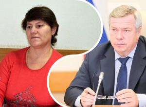 Жительница поселка Широко-Атамановского задала вопрос губернатору Ростовской области
