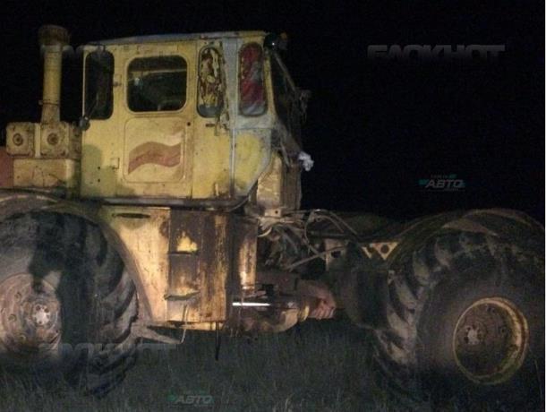 Пьяный тракторист переехал сожительницу трактором на трассе Морозовск-Цимлянск-Волгодонск