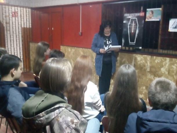 Проблему наркомании обсудили на вечере вопросов и ответов в доме культуры хутора Вербочки