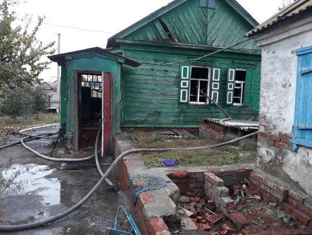 Частный дом горел на этой неделе в Морозовске