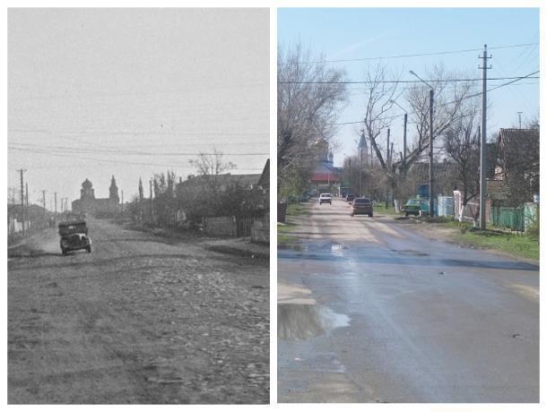 Прежде и теперь: Перекресток улиц Советской и Коммунистической с годами изрядно изменился