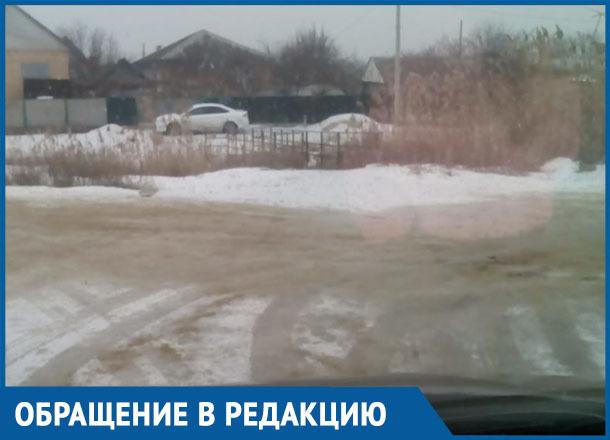 Переулок Комсомольский посыпали, теперь бы еще улицу Чапаева почистили, - морозовчанка