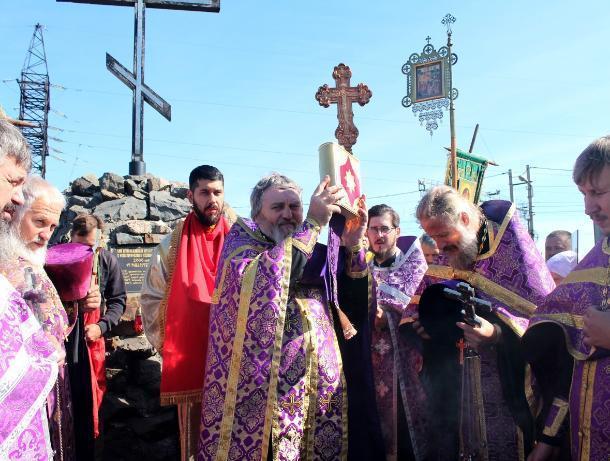 Настоятель Храма Рождества Пресвятой Богородицы Морозовска принял участие в гуковском крестном ходе