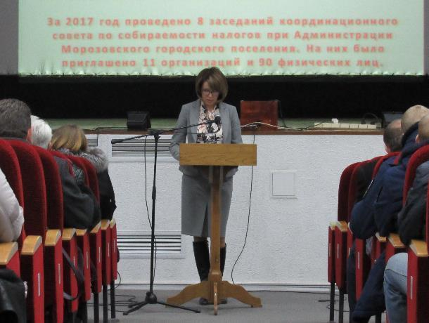 Отчет вместо еще пока действующего главы администрации Морозовска провела его заместитель