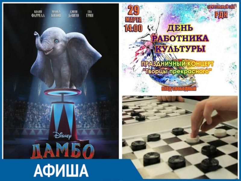 Праздничный концерт, соревнования по шашкам и целая куча новых мультфильмов ждет морозовчан уже на этой неделе
