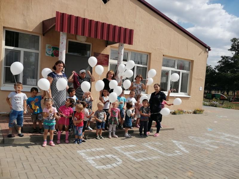 Акцию «И взмыли белые шары, как души детские Беслана» провели в детском саду хутора Вишнека