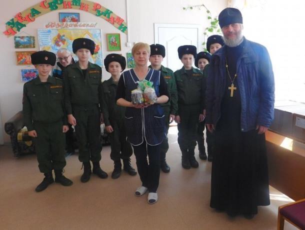 Воспитанники кадетского корпуса Морозовска приняли участие в акции «Дари радость на Пасху»