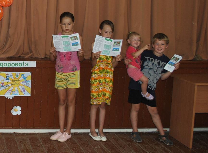 Дети в Вишневке играли в игру «Полезное - не полезное»