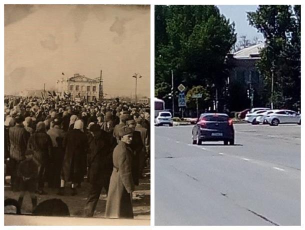 Прежде и теперь: Главная площадь Морозовска всегда была оживлённой и многолюдной