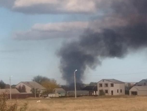 Пострадавших нет: На улице Пастухова в Морозовске сгорела хозпостройка