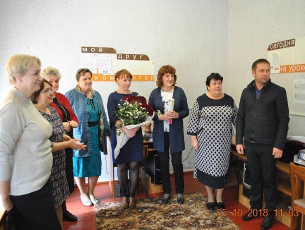 Работников сферы образования поздравили с профессиональным праздником в хуторе Вишневка